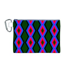 Quadrate Repetition Abstract Pattern Canvas Cosmetic Bag (M)