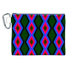 Quadrate Repetition Abstract Pattern Canvas Cosmetic Bag (xxl)