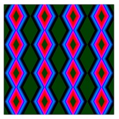 Quadrate Repetition Abstract Pattern Large Satin Scarf (Square)