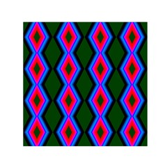 Quadrate Repetition Abstract Pattern Small Satin Scarf (Square)