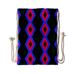Quadrate Repetition Abstract Pattern Drawstring Bag (Small)