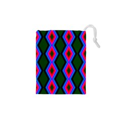 Quadrate Repetition Abstract Pattern Drawstring Pouches (XS)