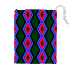 Quadrate Repetition Abstract Pattern Drawstring Pouches (Extra Large)
