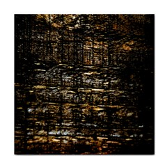 Wood Texture Dark Background Pattern Tile Coasters
