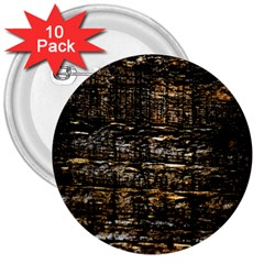 Wood Texture Dark Background Pattern 3  Buttons (10 pack)