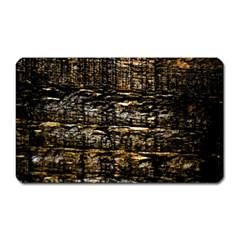 Wood Texture Dark Background Pattern Magnet (Rectangular)