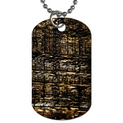 Wood Texture Dark Background Pattern Dog Tag (Two Sides)