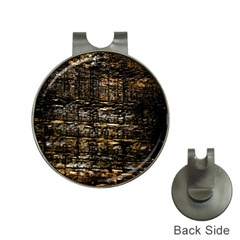Wood Texture Dark Background Pattern Hat Clips with Golf Markers