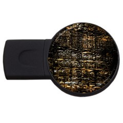Wood Texture Dark Background Pattern Usb Flash Drive Round (4 Gb)