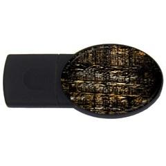 Wood Texture Dark Background Pattern Usb Flash Drive Oval (4 Gb)