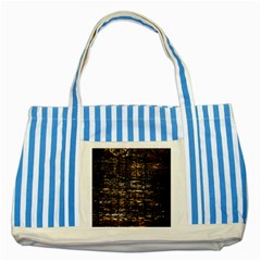 Wood Texture Dark Background Pattern Striped Blue Tote Bag