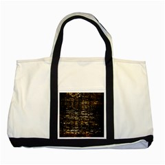 Wood Texture Dark Background Pattern Two Tone Tote Bag