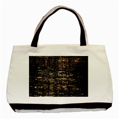 Wood Texture Dark Background Pattern Basic Tote Bag (Two Sides)