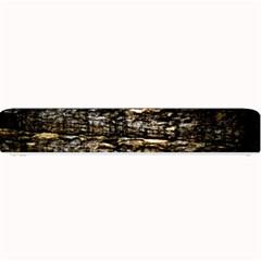 Wood Texture Dark Background Pattern Small Bar Mats