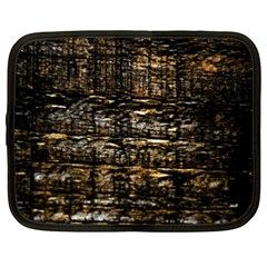 Wood Texture Dark Background Pattern Netbook Case (XXL)