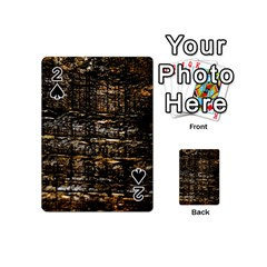 Wood Texture Dark Background Pattern Playing Cards 54 (Mini)