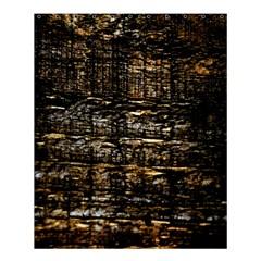 Wood Texture Dark Background Pattern Shower Curtain 60  x 72  (Medium)