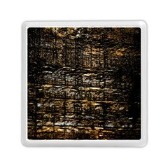 Wood Texture Dark Background Pattern Memory Card Reader (Square)