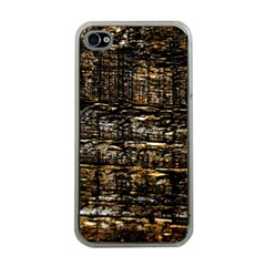 Wood Texture Dark Background Pattern Apple Iphone 4 Case (clear)