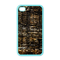 Wood Texture Dark Background Pattern Apple Iphone 4 Case (color)