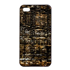 Wood Texture Dark Background Pattern Apple iPhone 4/4s Seamless Case (Black)