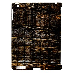 Wood Texture Dark Background Pattern Apple iPad 3/4 Hardshell Case (Compatible with Smart Cover)