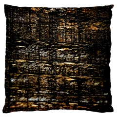 Wood Texture Dark Background Pattern Large Cushion Case (two Sides)