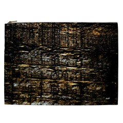 Wood Texture Dark Background Pattern Cosmetic Bag (xxl)