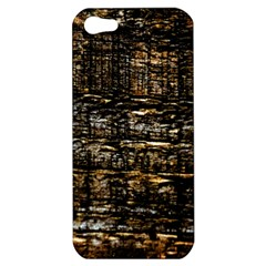 Wood Texture Dark Background Pattern Apple iPhone 5 Hardshell Case
