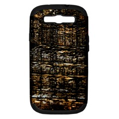 Wood Texture Dark Background Pattern Samsung Galaxy S Iii Hardshell Case (pc+silicone)