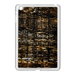 Wood Texture Dark Background Pattern Apple iPad Mini Case (White)