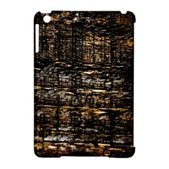 Wood Texture Dark Background Pattern Apple Ipad Mini Hardshell Case (compatible With Smart Cover)