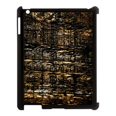 Wood Texture Dark Background Pattern Apple iPad 3/4 Case (Black)