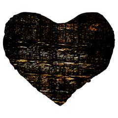 Wood Texture Dark Background Pattern Large 19  Premium Heart Shape Cushions