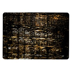 Wood Texture Dark Background Pattern Samsung Galaxy Tab 10.1  P7500 Flip Case