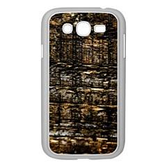 Wood Texture Dark Background Pattern Samsung Galaxy Grand DUOS I9082 Case (White)