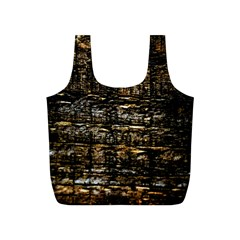 Wood Texture Dark Background Pattern Full Print Recycle Bags (S)