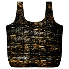 Wood Texture Dark Background Pattern Full Print Recycle Bags (l)