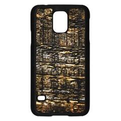 Wood Texture Dark Background Pattern Samsung Galaxy S5 Case (black)
