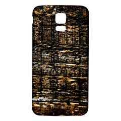 Wood Texture Dark Background Pattern Samsung Galaxy S5 Back Case (white)