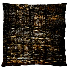 Wood Texture Dark Background Pattern Standard Flano Cushion Case (Two Sides)