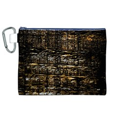 Wood Texture Dark Background Pattern Canvas Cosmetic Bag (XL)