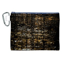 Wood Texture Dark Background Pattern Canvas Cosmetic Bag (xxl)