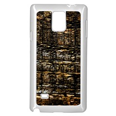 Wood Texture Dark Background Pattern Samsung Galaxy Note 4 Case (white)