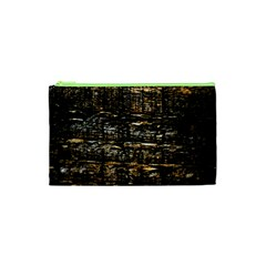 Wood Texture Dark Background Pattern Cosmetic Bag (XS)
