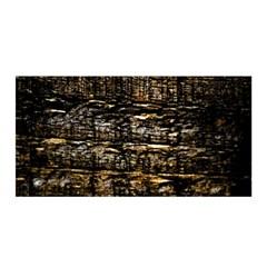 Wood Texture Dark Background Pattern Satin Wrap