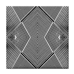 Black And White Line Abstract Tile Coasters