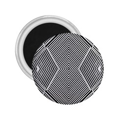 Black And White Line Abstract 2.25  Magnets