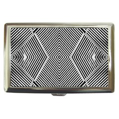 Black And White Line Abstract Cigarette Money Cases