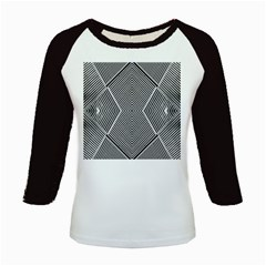 Black And White Line Abstract Kids Baseball Jerseys